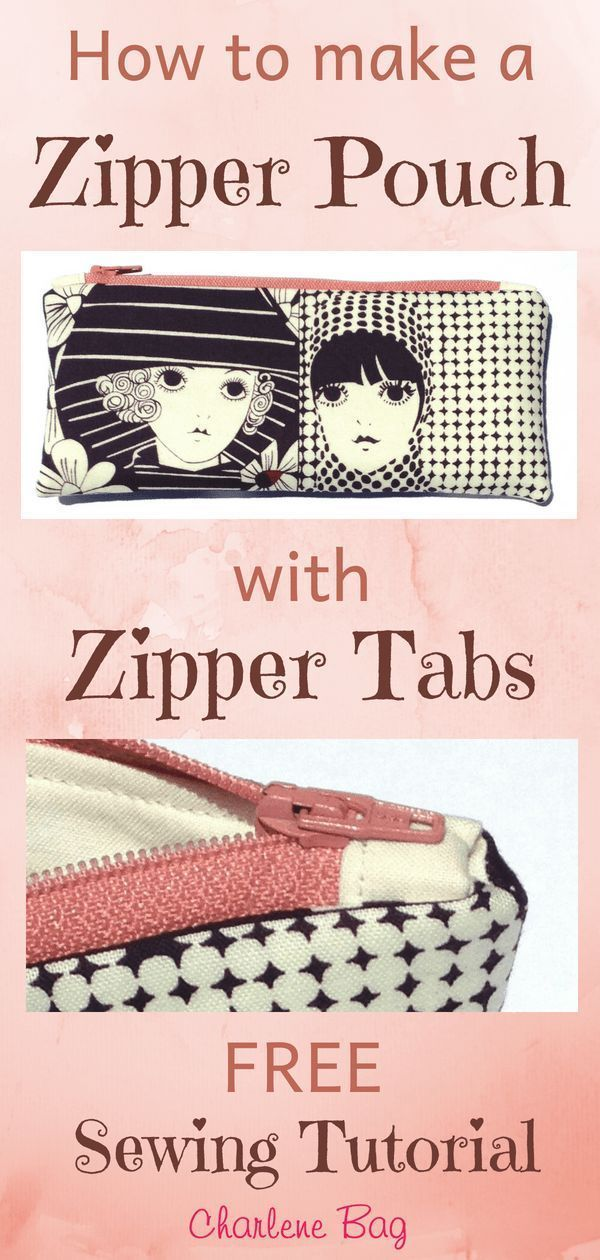How to make a zipper pouch with zipper tabs in every size you want