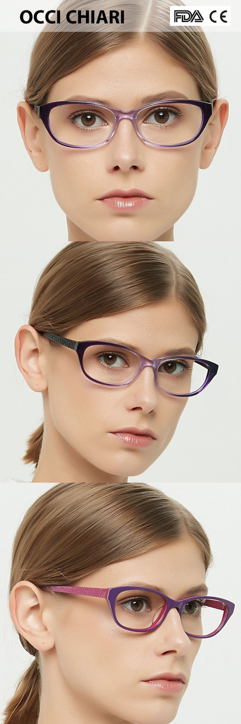 c0a36b85f472 Women cat eyes style eyeglasses prescription wine red myopia spectacle  student fashion glasses frame female w