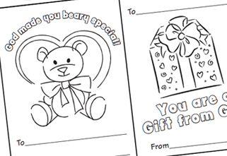 kostenlose vorschule bastelidee: valentinstag malvorlagen