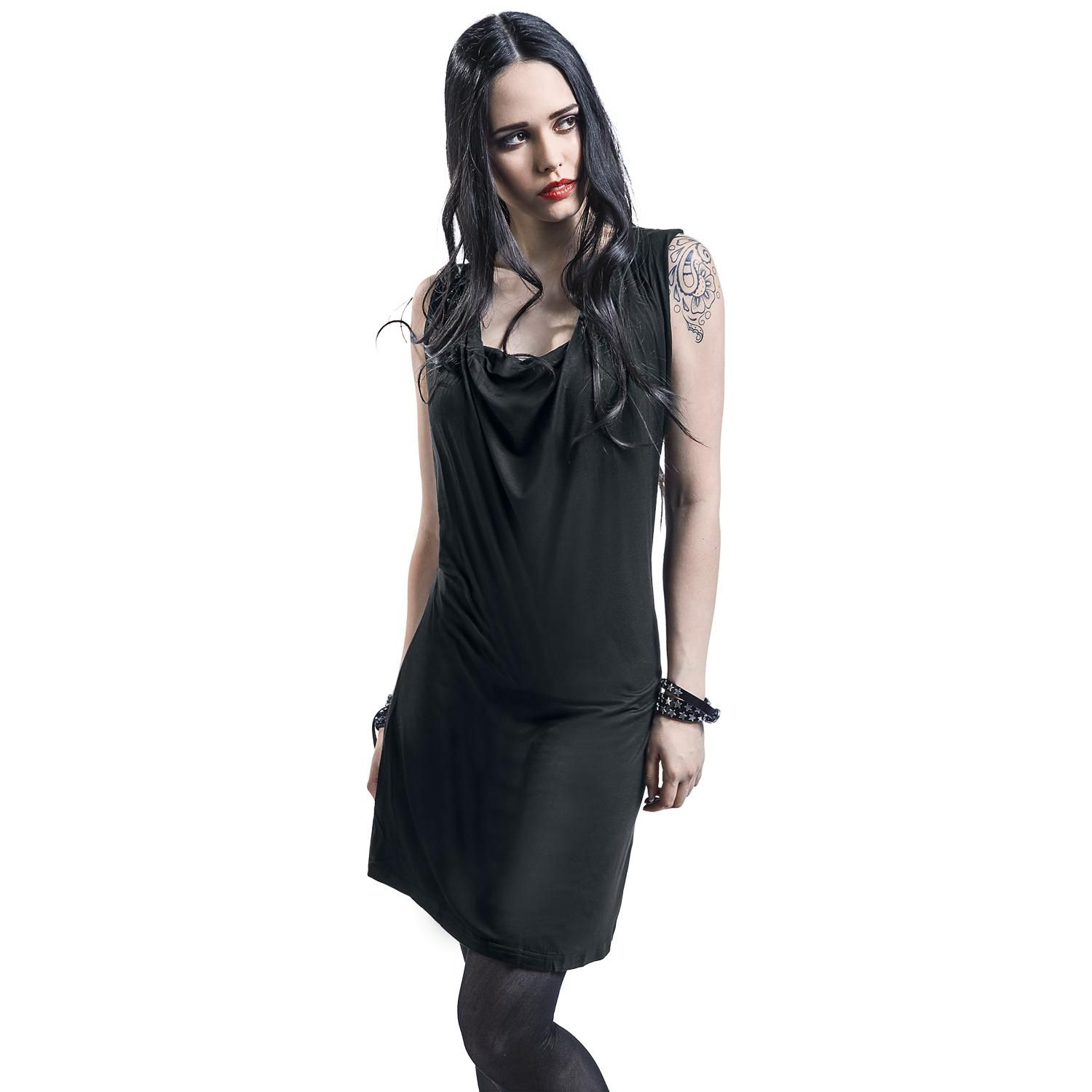 "Black Premium by EMP Kort kjole, Damer ""Sleeveless Backlace Dress"" sort • EMP"