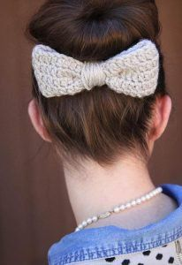 38 Crochet Hair Ties - Free Pattern To Make #crochetbowpattern