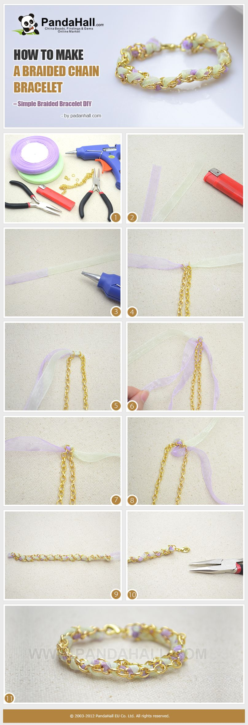 How To Make A Braided Chain Bracelet Simple Diy