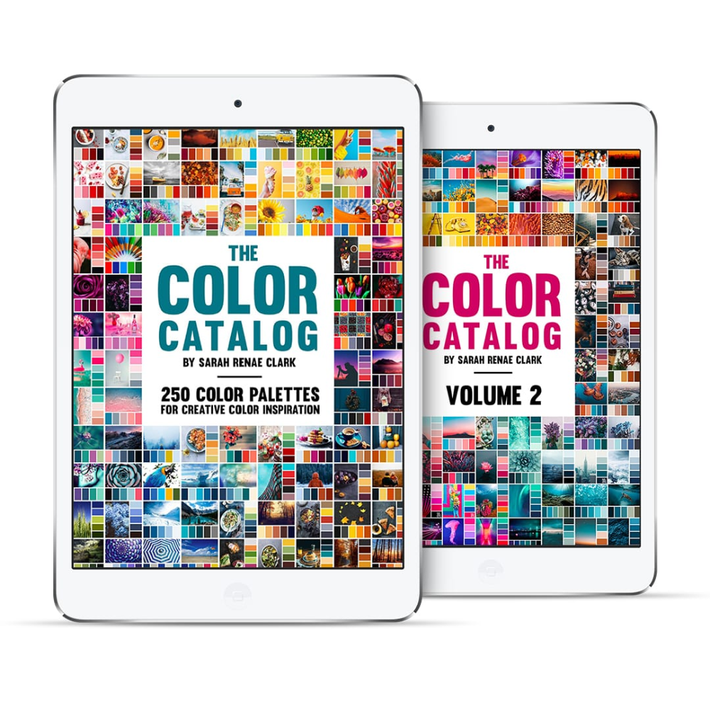 The Color Catalog Bundle Volume 1 2 Sarah Renae Clark Coloring Book Artist And Designer In 2020 Color Catalog Coloring Books Artist Books