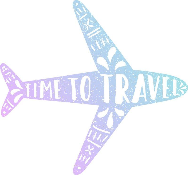 Time To Travel Gradient Plane Sticker Travel Stickers Travel