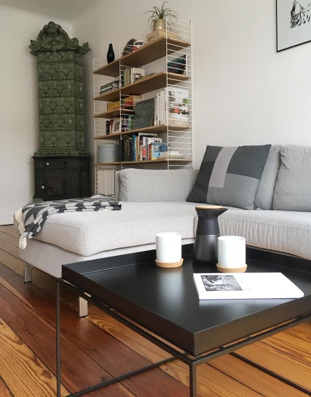 Wohnen im Altbau minimalistisch mit einigen Vintage-Elementen und