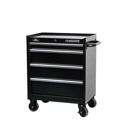 Husky  In W  Drawer Tool Cabinet In Black Htrr The Home Depot