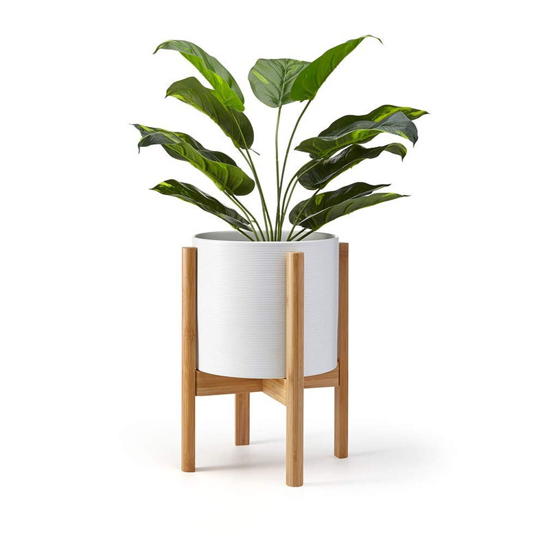 Mid Century Plant Stand Planter Stand Potted Plant Stand Modern Planter Wood Plant Stand Pot And Pla Wood Plant Stand Bamboo Plants Plant Stand Indoor