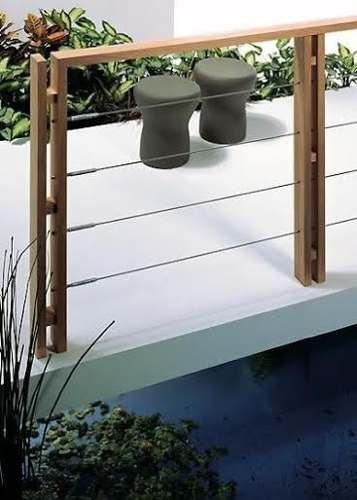 Barandas de balcon y escaleras de madera x metro lineal - Baranda de madera ...