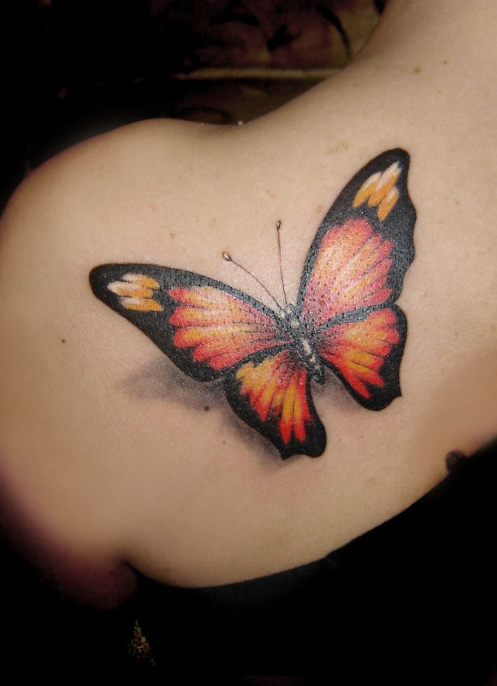 3acb4f2ab Big butterfly tattoo back/shoulder | Beautifully Tattooed ...
