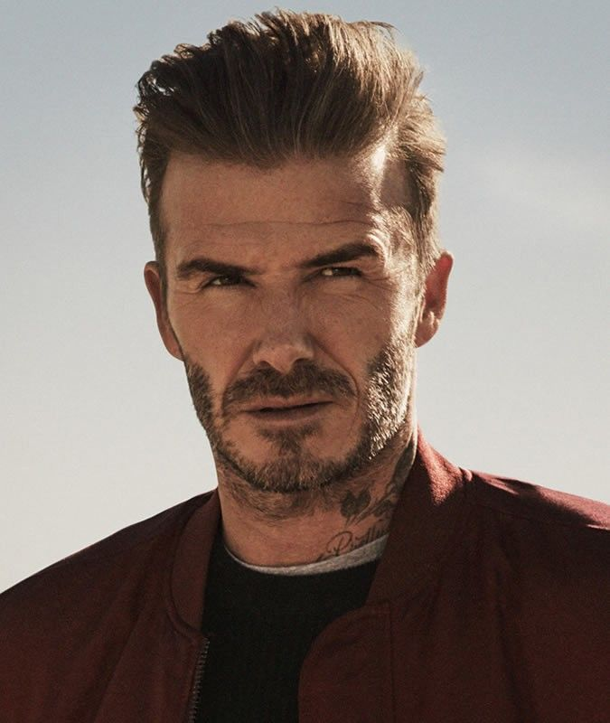 David Beckham Pompadour Haircut Mens Hairstyle Pinterest
