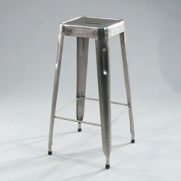 Barhocker Style metall barhocker shabby nickel iron bar stool nickel vintage