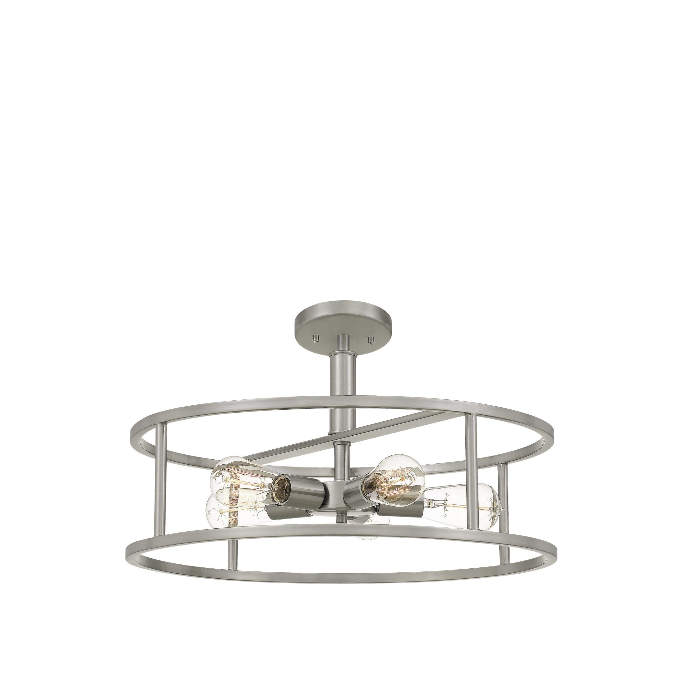 "Quoizel New Harbor 5Light 20"" Ceiling Light in Brushed"