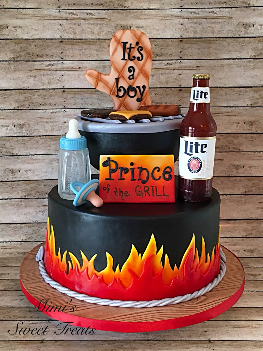 Beer And Bbq Baby Shower Cake Granny Time 2 In 2019