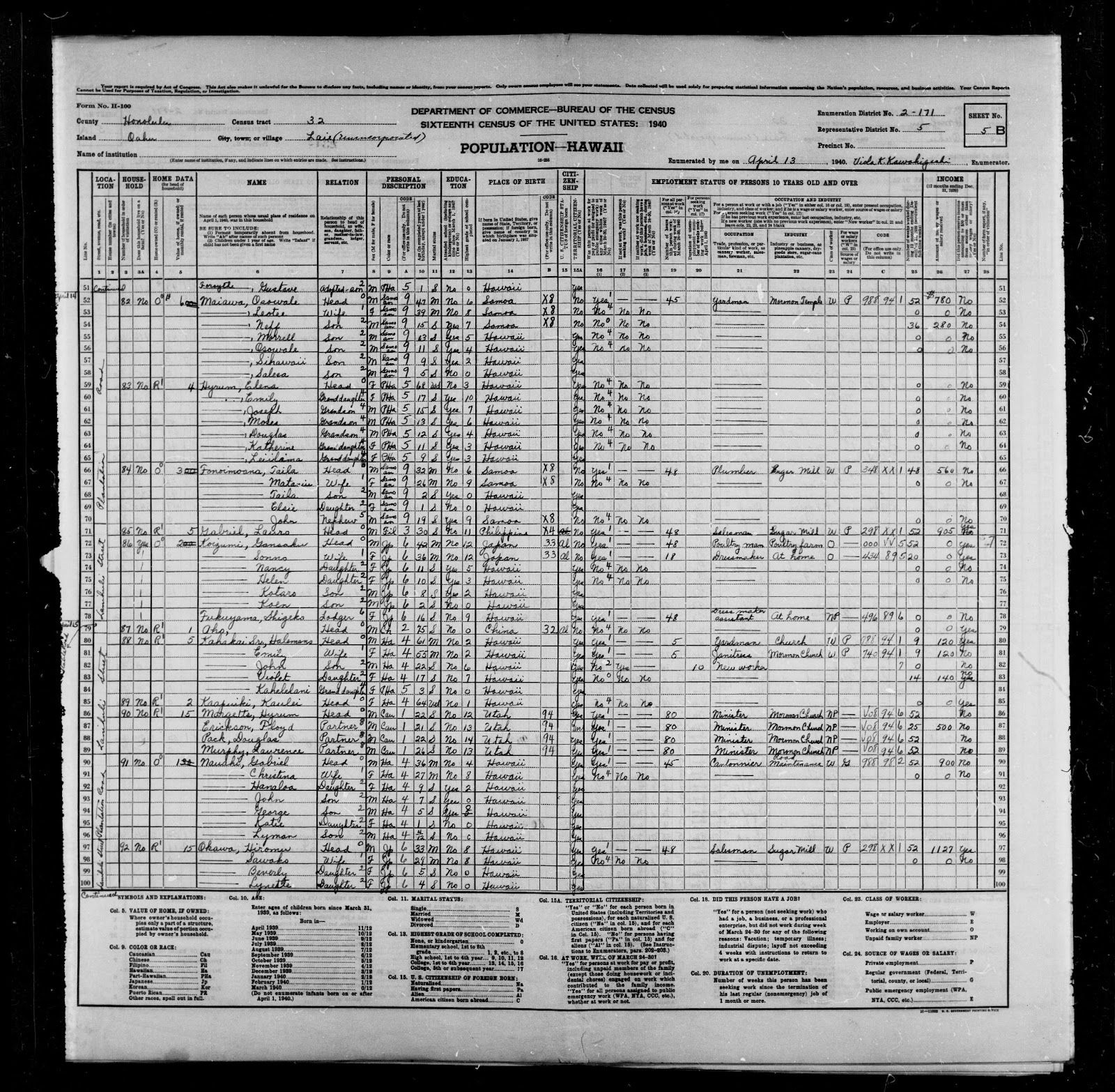 U S Census 1940 Search By Name - Year of Clean Water
