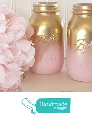 pink and gold ombre mason jarsbaby shower mason jars bridal shower centerpieces from