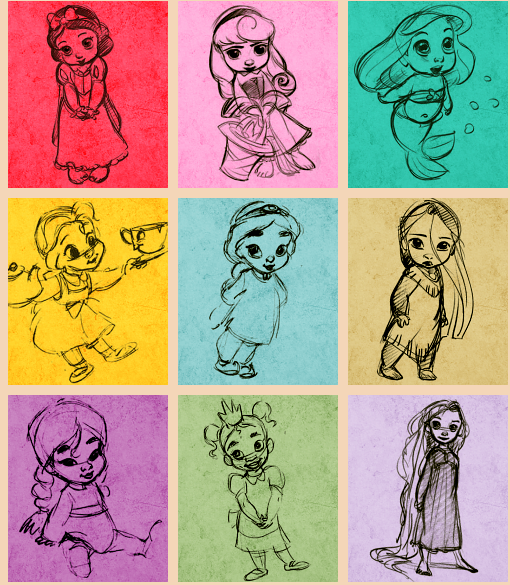 baby disney princesses cute drawing pinterest baby