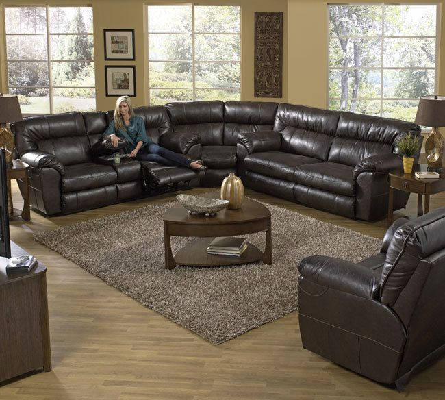 Awesome Catnapper Nolan 404 Bonded Leather Godiva Sectional Available At T And D  Furniture Pearl MS