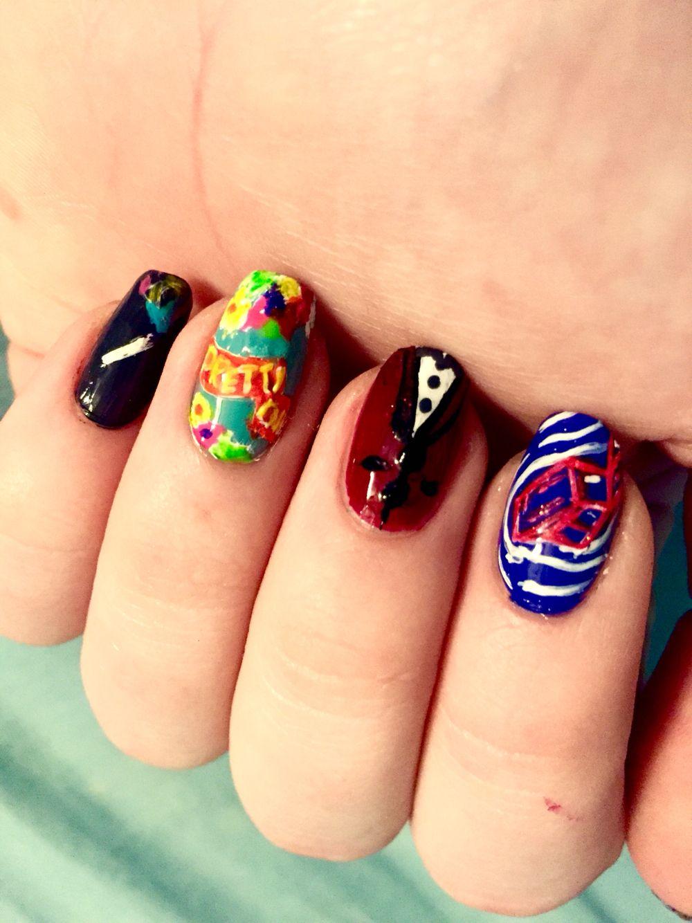 Panic! At the disco nails | Nails | Pinterest | Discos, Emo nail art ...