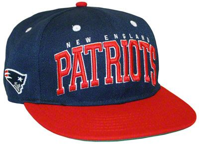 New England Patriots Big Text 2 Tone Flatbill Snapback Hat  802644fbc381