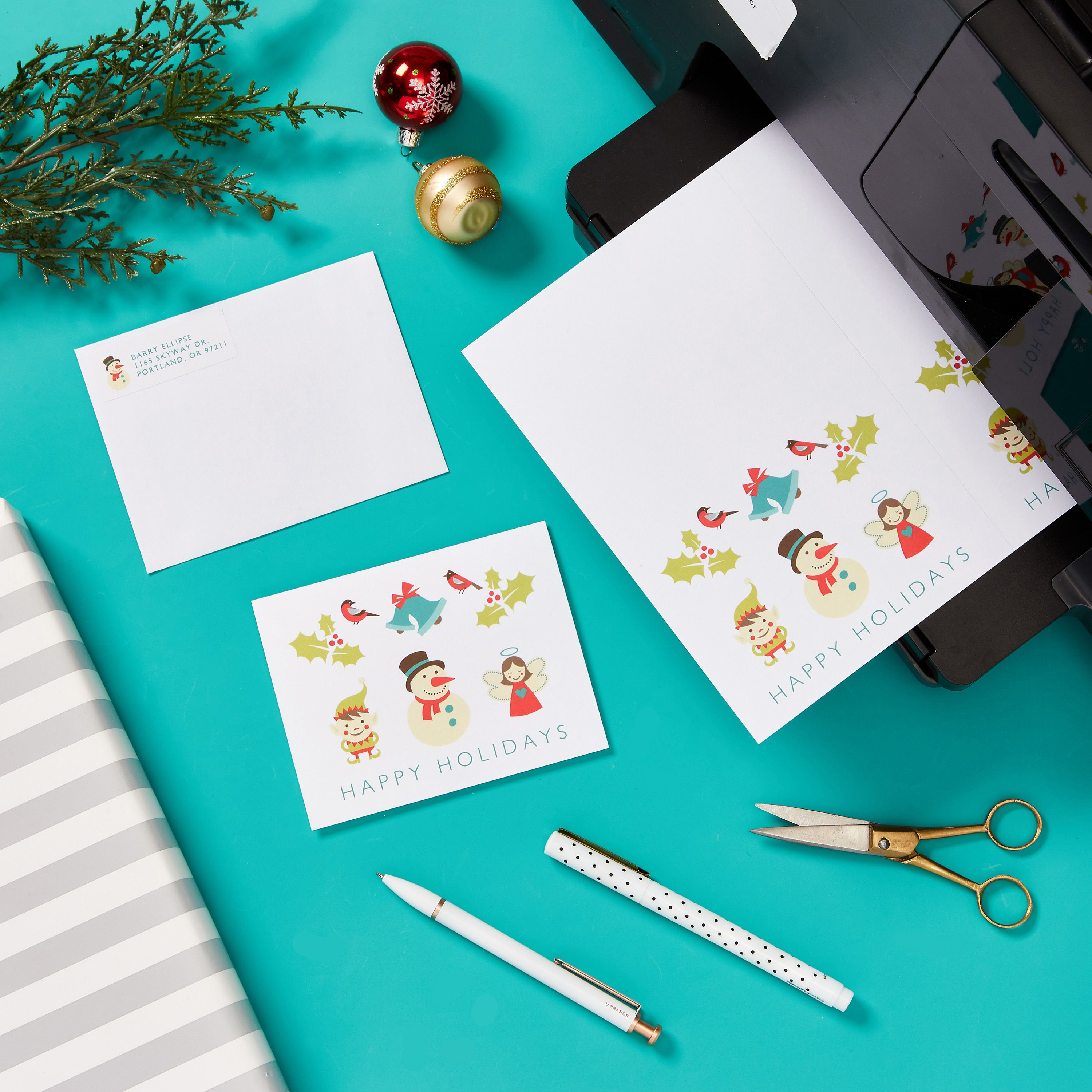 Design And Print Holiday Cards At Home Free Templates Holiday Holiday Cards Template Free