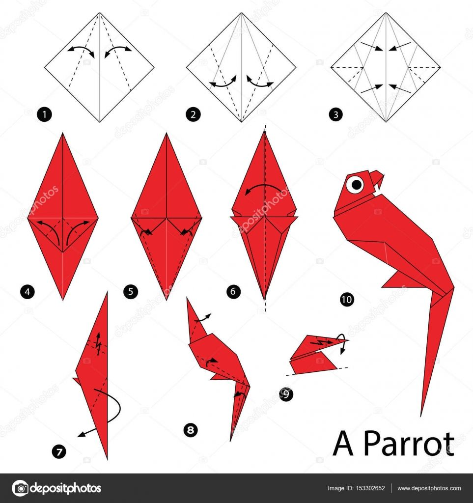 Download Royalty Free Animal Toy Cartoon Cute Paper Steps Origami Art Stock Vector 153302652 From Depositphotos Collect With Images Origami Art Origami Toys Origami Crafts