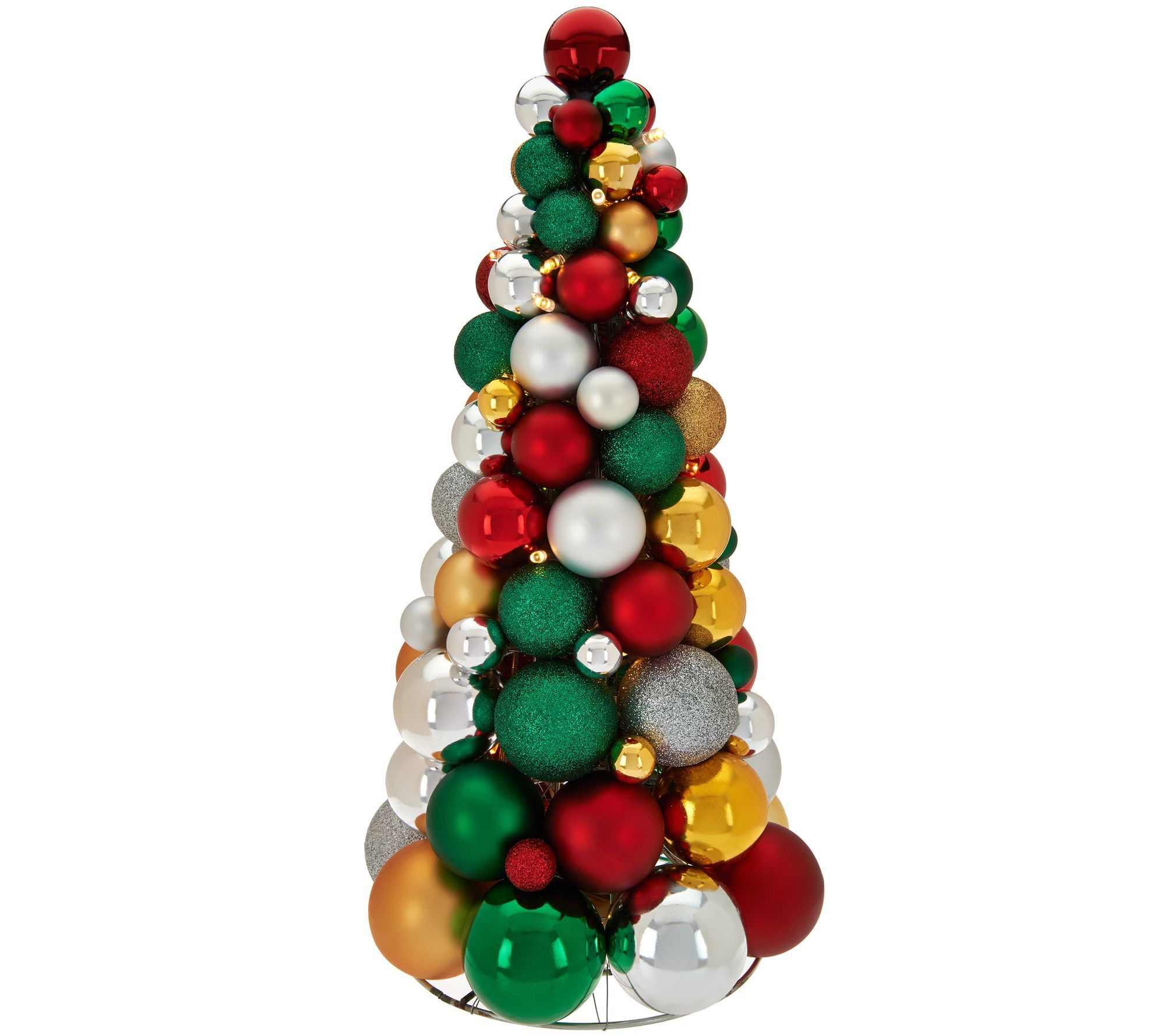 16 Illuminated Ornament Tabletop Tree By Valerie Ornaments Ornament Wreath Table Top