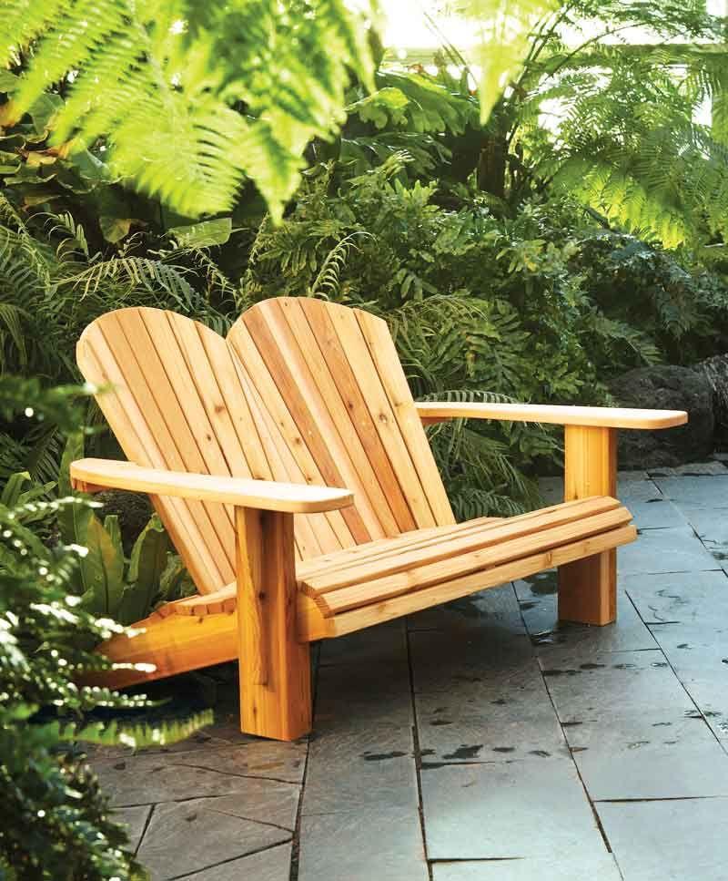 AW Extra 122613  Adirondack Loveseat  Woodworking