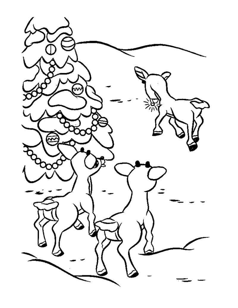 christmas_santa\'s_reindeer_coloring_pages (22) | Crafts and ...