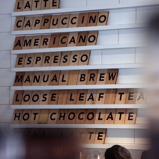 Menu board. Designed for Madison Coffee and Tea Co. | Cafeteria ...