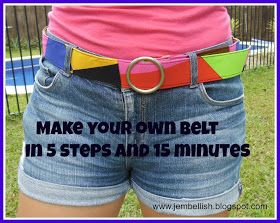 Creating my way to Success: Make your own fabric belt in 5 steps and 15 minutes