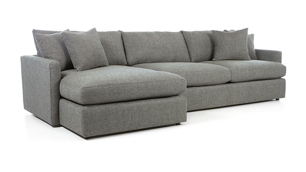 Lounge Ii Grey Chaise Lounge Sectional Reviews Crate And Barrel 2 Piece Sectional Sofa Sectional Sofa Deep Seated Sectional