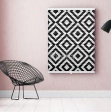 Foto-Plissee Schwarz - Weiss Motiv  in verschiedenen Größen, blickdicht und platzsparend