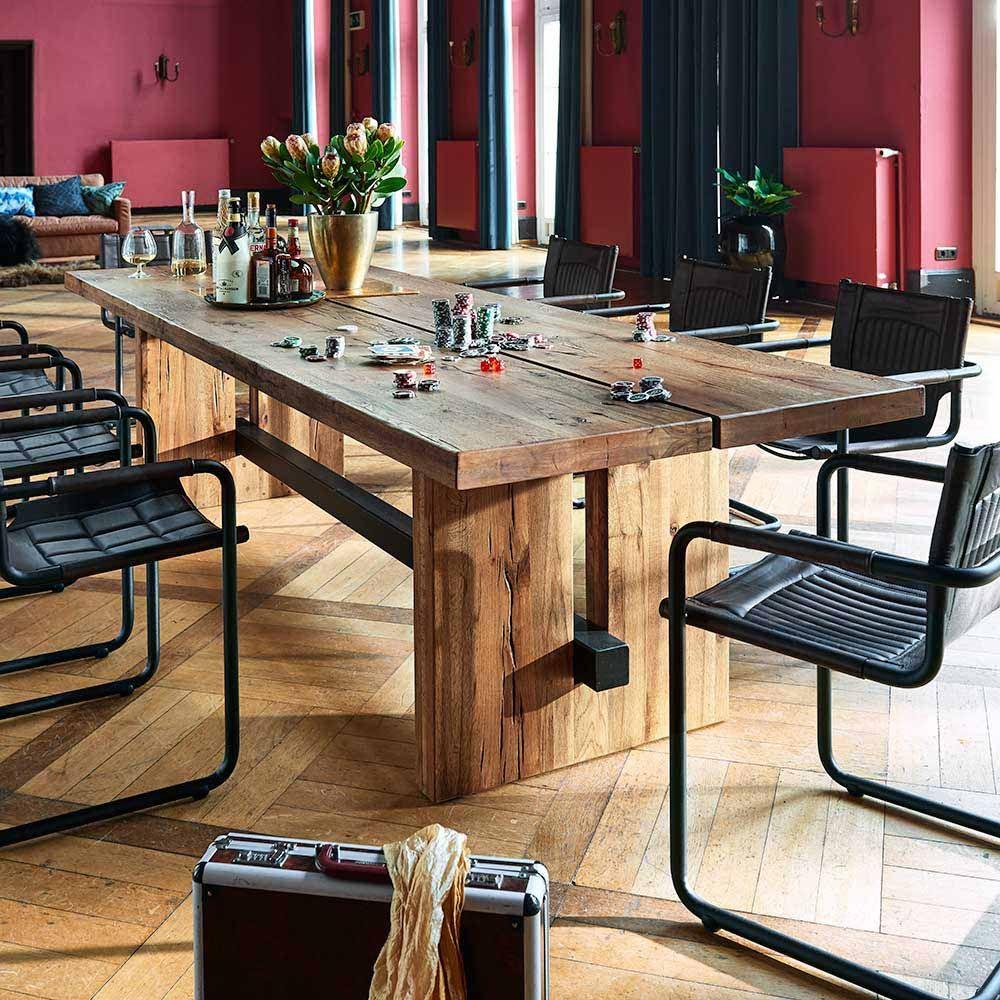 Design Esstisch aus Eiche Massivholz gebeizt Jetzt bestellen unter ...