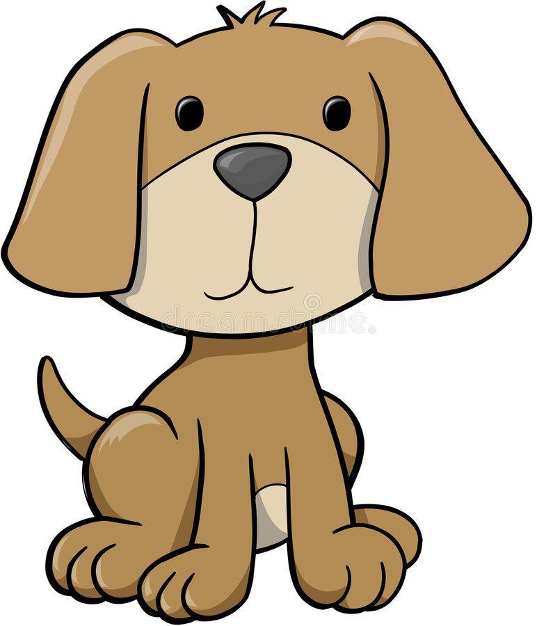 Cute Dog Clip Art Dog Vector Illustration Royalty Free Stock