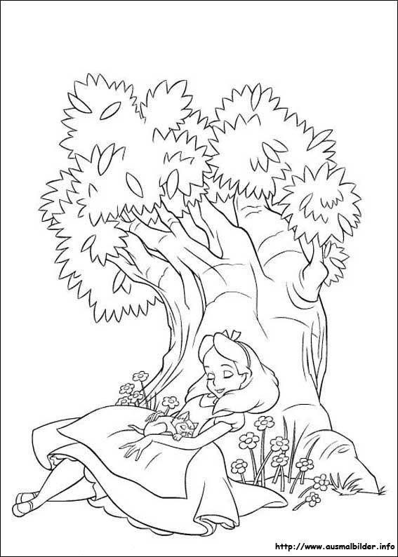 Alice im Wunderland malvorlagen | basteln! | Pinterest | Alice