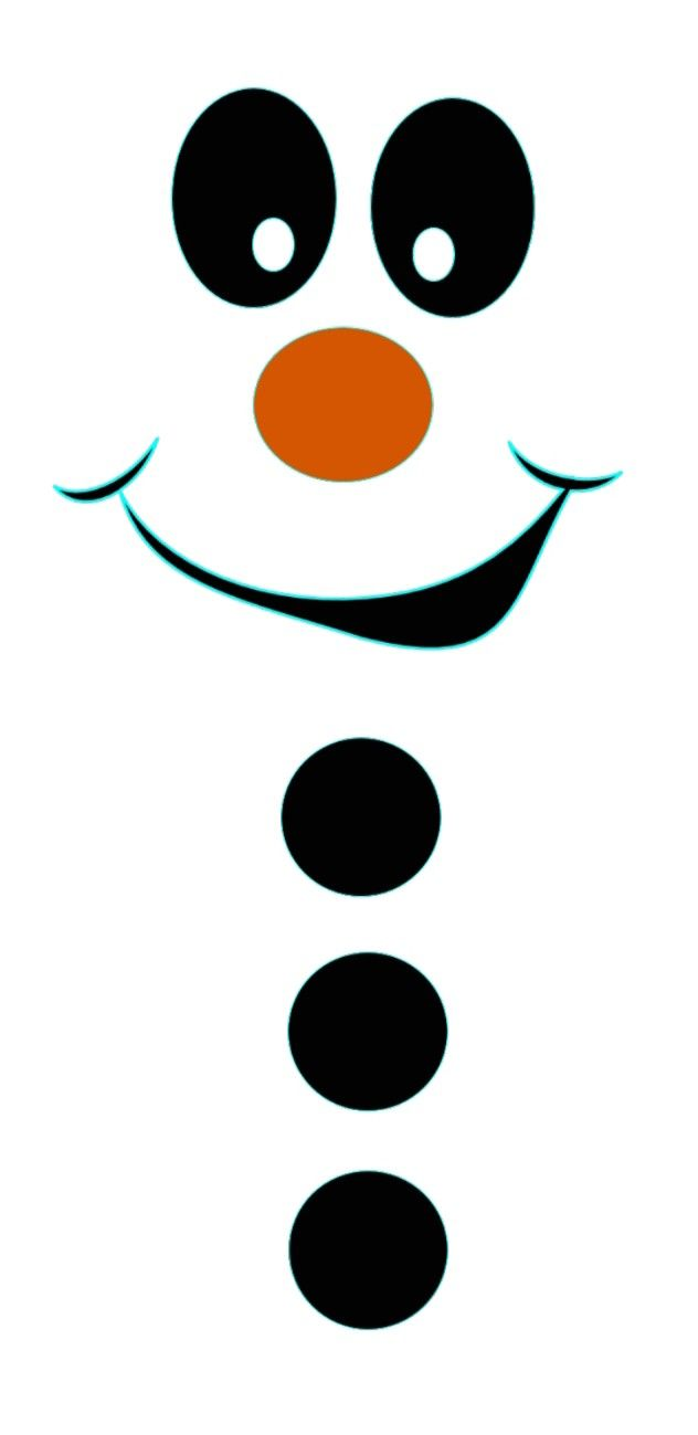 Tactueux image within printable snowman face