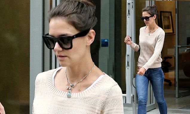 Katie Holmes steps out in skinny jeans to run errands in NYC