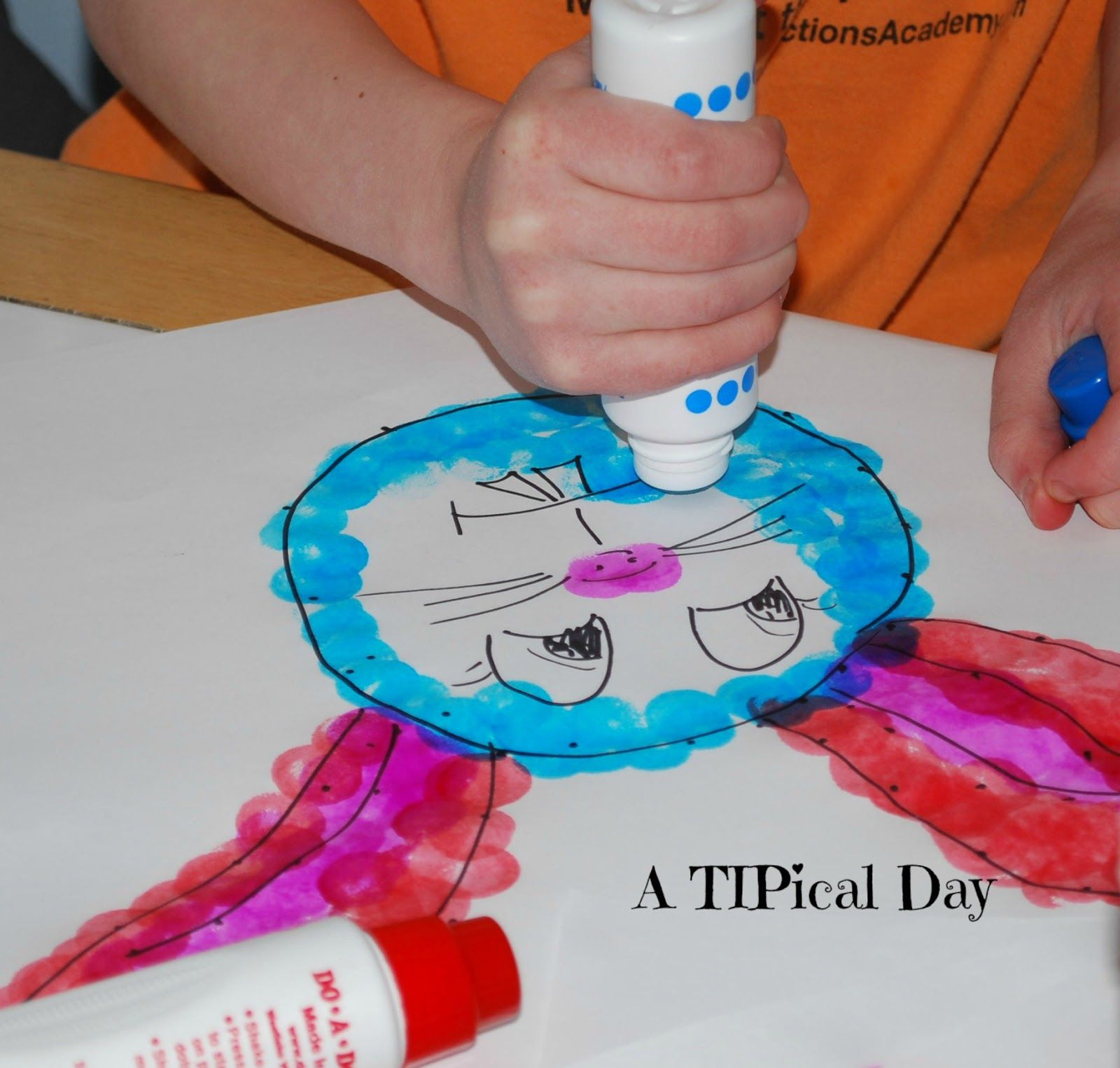 A tipical day doadot preschool art draw your own