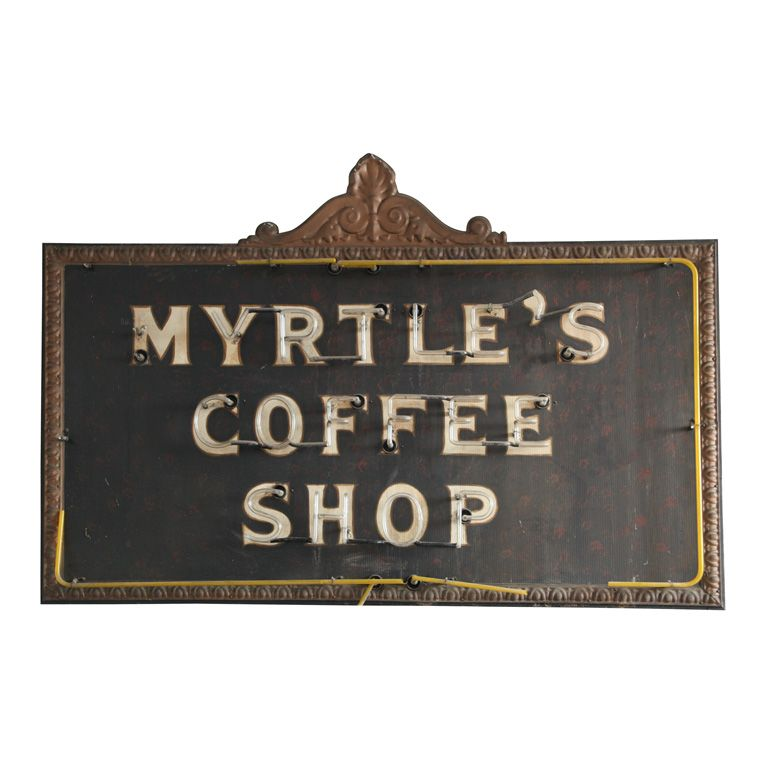 1920's coffee shop sign