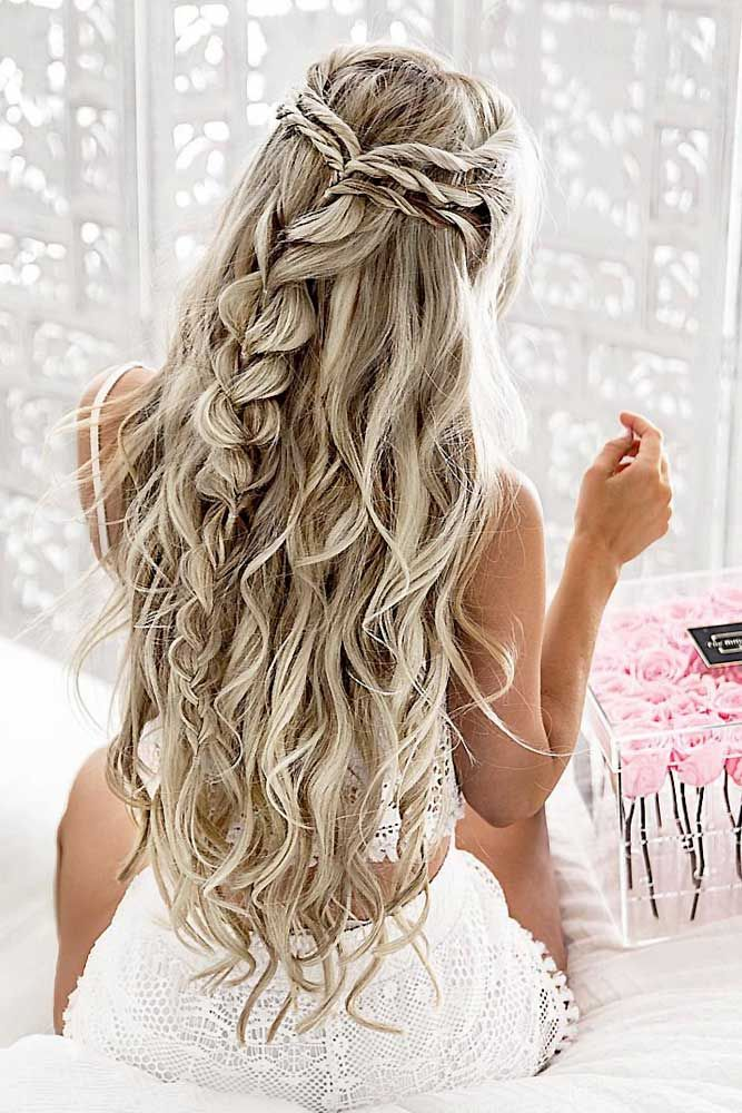 68 Stunning Prom Hairstyles For Long Hair For 2020 Pretty Braided Hairstyles Braided Hairstyles For Wedding Prom Hairstyles For Long Hair