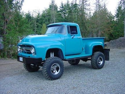 Birds eye view from a lifted F100 | Classic Fords ...1956 Ford F100 Lifted
