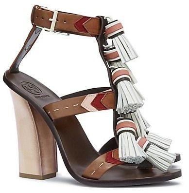 Tory Burch Weaver Tassel Sandals