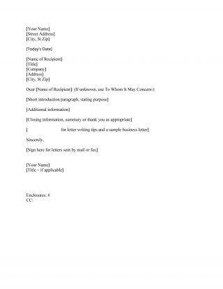 Download Formal Business Letter   Letter Sample