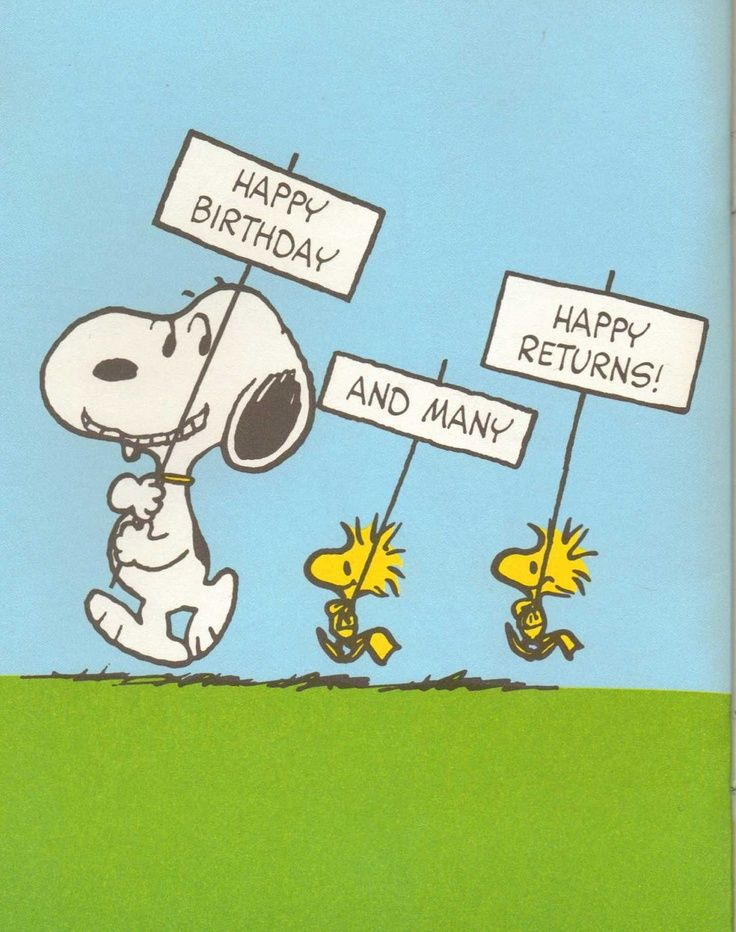 Happy birthday and many more returns snoopy gang charlie brown bookmarktalkfo Gallery