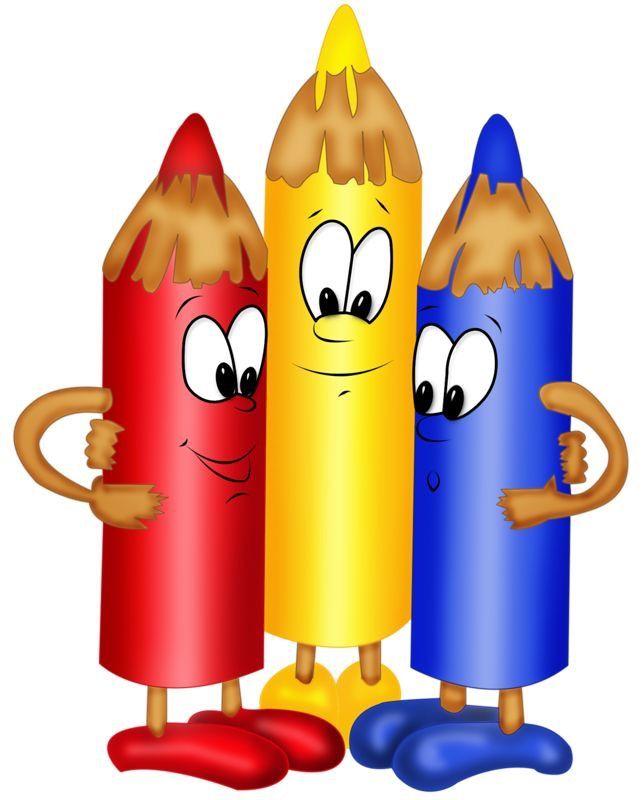 Los lápices de colores | Útiles escolares animados, Dibujos para ...