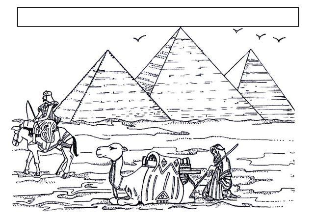 Piramides De Gizeb Egipto Paginas Para Colorir Tatuagem Egito