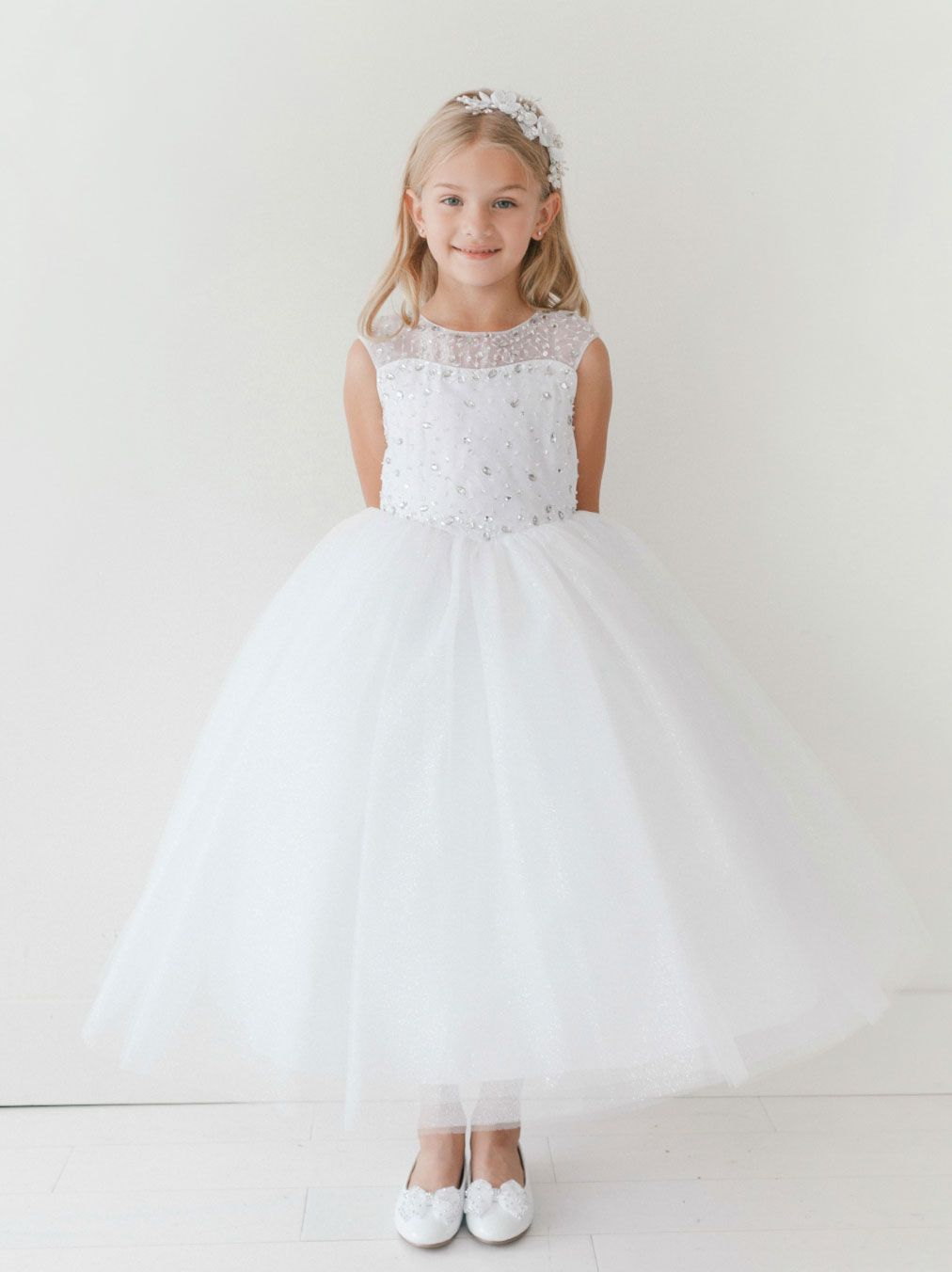 Girls dress style sale white size piece available
