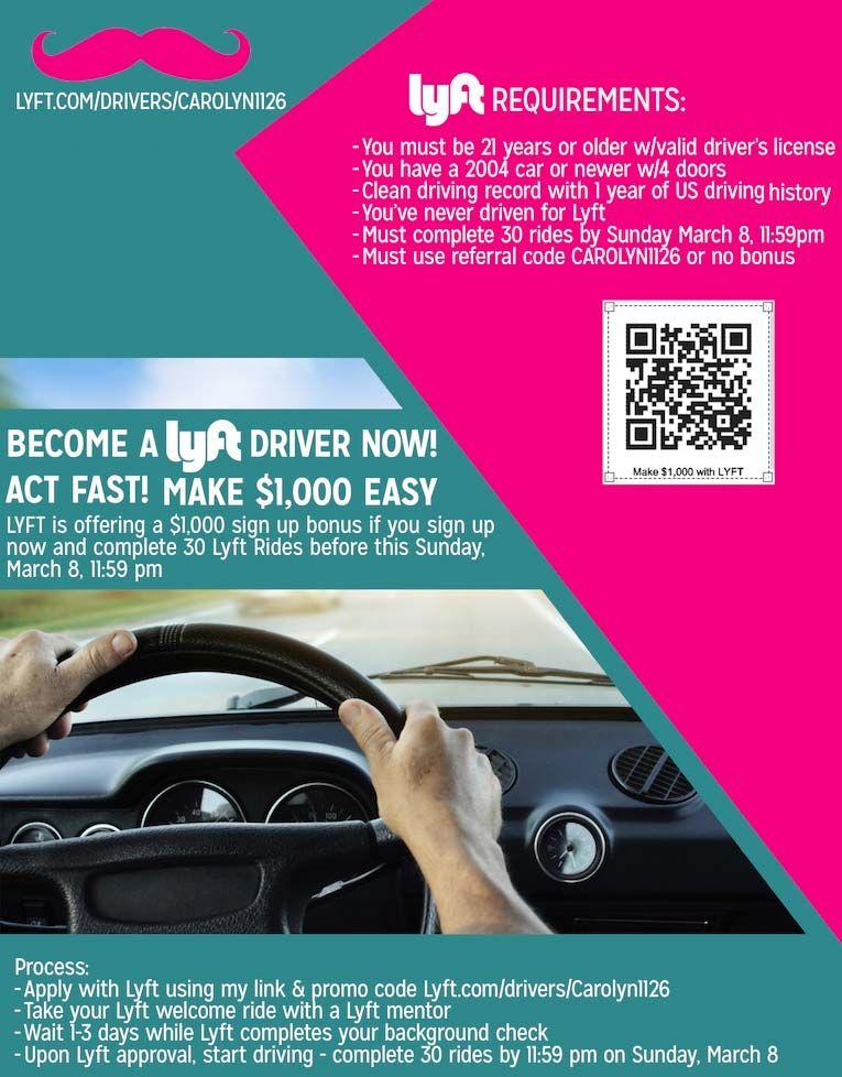 Lyft driver promo flyer   Flyer Design Inspo   Pinterest