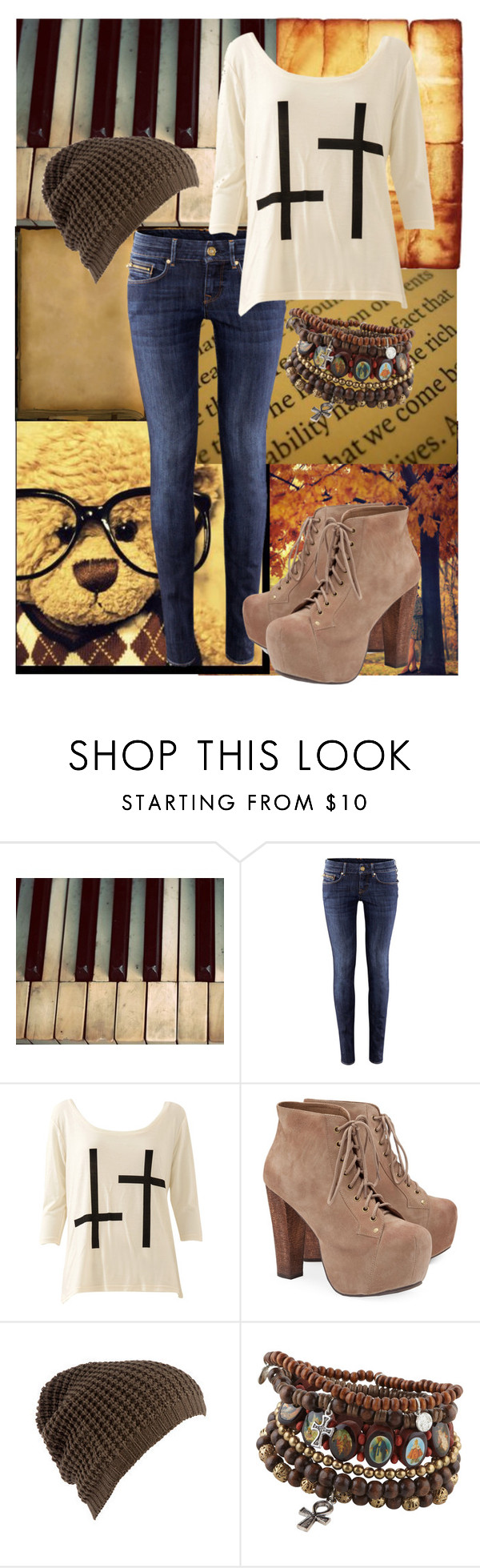 """""""Chapter 40"""" by superlycharlie ❤ liked on Polyvore featuring H&M, Jeffrey Campbell and ALDO"""