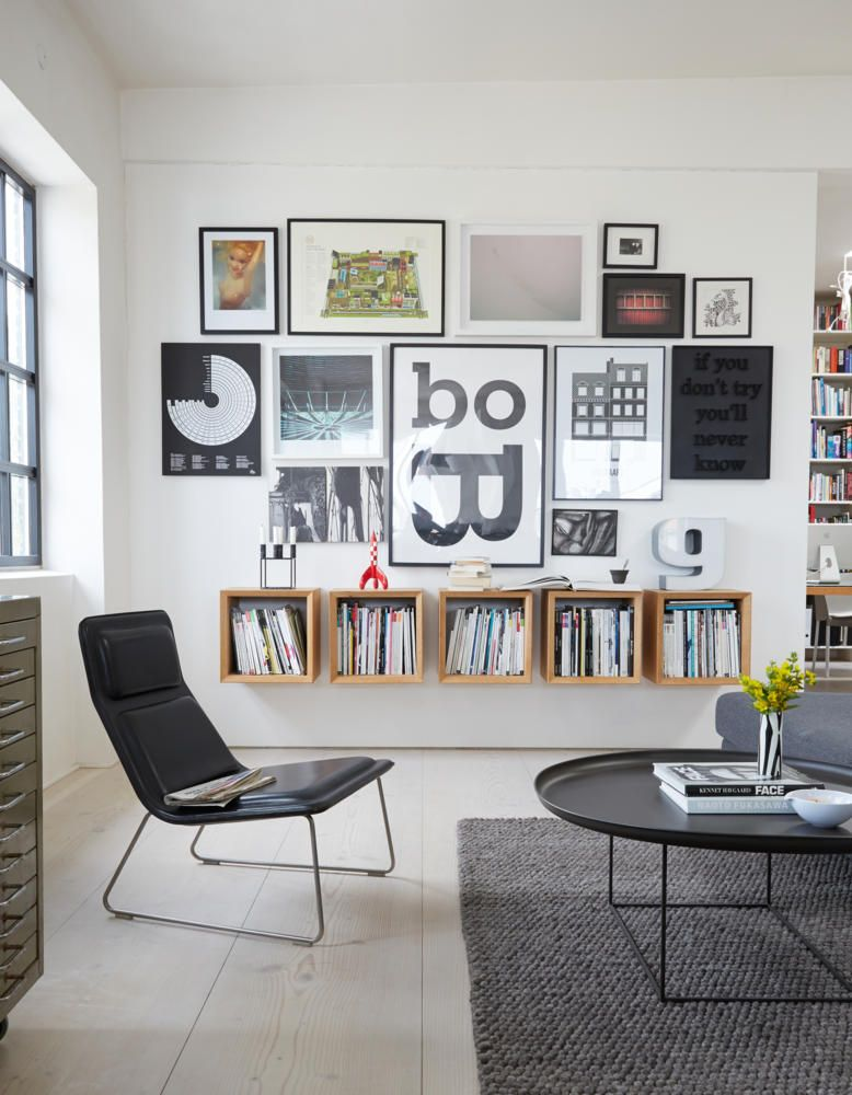 Weisse Wand Mit Bildern Gestalten
